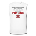 "White ""Physics"" Men's Muscle T-Shirt"