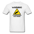 """Warning Compressed Gas Inside"" - Men's T-Shirt"