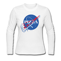 """NASA Pizza"" -  Women's Long Sleeve Jersey T-Shirt"