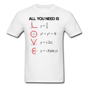"""All You Need is Love"" - Men's T-Shirt - T-Shirt - ScienceT-Shirts"