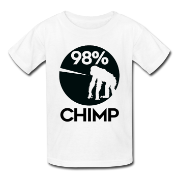 """98% Chimp"" (black) - Kids' T-Shirt - T-Shirt - ScienceT-Shirts"