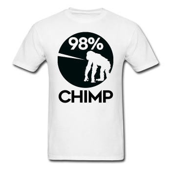 """98% Chimp"" (black) - Men's T-Shirt - T-Shirt - ScienceT-Shirts"
