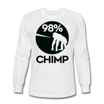 """98% Chimp"" - Men's Long Sleeve T-Shirt - T-Shirt - ScienceT-Shirts"