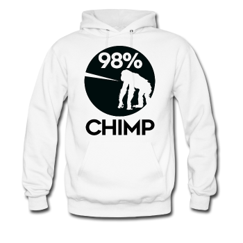 """98% Chimp"" - Men's Hoodie - Hoodie - ScienceT-Shirts"