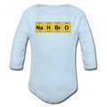 Blue NaH BrO Baby Long Sleeve Periodic Table One Piece