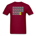 Maroon BatMan Periodic Table Men's Science T-Shirt