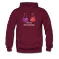 Maroon You're Overreacting Men's Hoodie