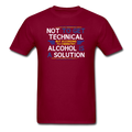"Red ""Alcohol Is A Solution"" - Men's T-Shirt"