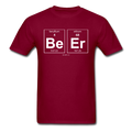 Maroon BeEr Periodic Table Science Men's T-Shirt