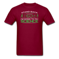 Maroon Stand Back I'm Going To Try Science Men's T-Shirt