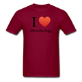 """I ♥ Microbiology"" (black) - Men's T-Shirt - T-Shirt - ScienceT-Shirts"