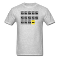 Gray BatMan Periodic Table Men's Science T-Shirt