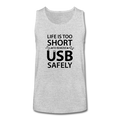 "UNPUBLISHED - Spreadshirt Article not found | UNPUBLISHED - Spreadshirt Article not found | ""Life is too Short"" (black) - Kids' Tank Top - Tank - ScienceT-Shirts"