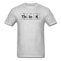 Gray Think Periodic Table Science Men's T-Shirt