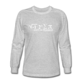 """I Ate Pi"" (white) - Men's Long Sleeve T-Shirt - T-Shirt - ScienceT-Shirts"