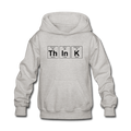 "Gray ""ThInK Periodic Table"" - Kids' Hoodie"