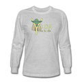 Gray Yoda One For Me Star Wars Men's Long Sleeve T-Shirt