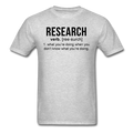 """Research"" (black) - Men's T-Shirt"