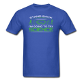 Blue Stand Back I'm Going To Try Science Men's T-Shirt