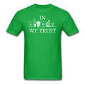 """In Science We Trust"" (white) - Men's T-Shirt - T-Shirt - ScienceT-Shirts"
