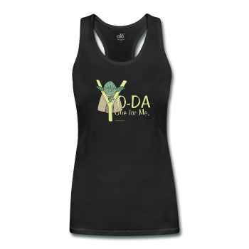 "Black ""Yoda One For Me Star Wars"" Women's Tank"