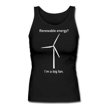 """I'm a Big Fan"" - Women's Longer Length Fitted Tank - Tank Top - ScienceT-Shirts"
