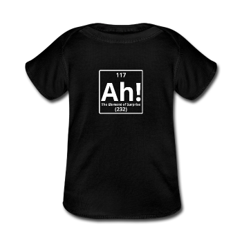 """Ah! The Element of Surprise"" - Baby Lap Shoulder T-Shirt - T-Shirt - ScienceT-Shirts"