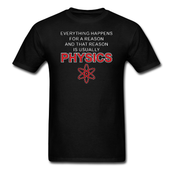 Black Physics Men's Science T-Shirt