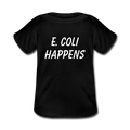 """E. Coli Happens"" (white) - Baby Lap Shoulder T-Shirt - T-Shirt - ScienceT-Shirts"