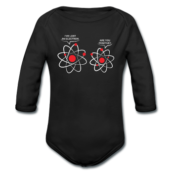 """Lost an Electron"" - Baby Long Sleeve One Piece - One Piece - ScienceT-Shirts"