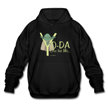 Black Yoda One For Me Star Wars Men's  Pop Culture Big & Tall Hoodie
