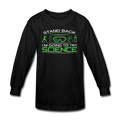 black Stand Back I'm Going To Try Science Kids' Long Sleeve T-Shirt