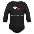 """A-Mean-Oh Acid"" - Baby Long Sleeve One Piece - One Piece - ScienceT-Shirts"