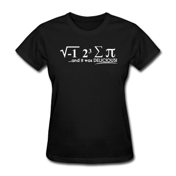 "Black ""I Ate Pi"" Women's T-Shirt"