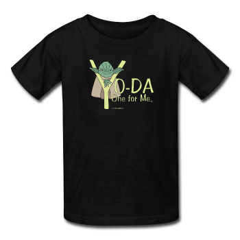 Black Yoda One For Me Star Wars Kids' T-Shirt