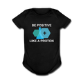 Black Be Positive Like A Proton Baby Short Sleeve One Piece