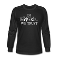 """In Science We Trust"" (white) - Men's Long Sleeve T-Shirt - T-Shirt - ScienceT-Shirts"
