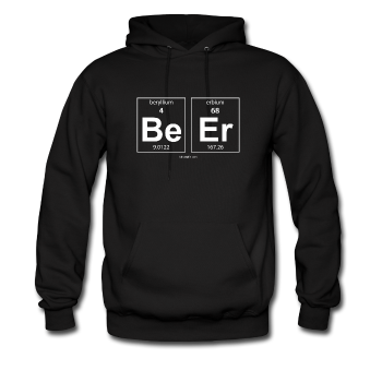 Black BeEr periodic table science men's hoodie