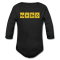 Black NaH BrO Baby Long Sleeve Periodic Table One Piece
