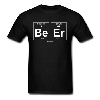 Black BeEr Periodic Table Science Men's T-Shirt