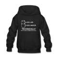 """Technically the Glass is Full"" - Kids' Hoodie"