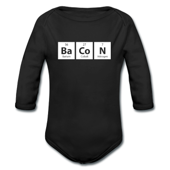"""BaCoN"" - Baby Long Sleeve One Piece - One Piece - ScienceT-Shirts"