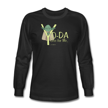 Black Yoda One For Me Star Wars Men's Long Sleeve T-Shirt