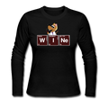 """WINe"" -  Women's Long Sleeve Jersey T-Shirt"