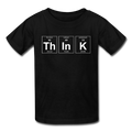 Black ThInK Periodic Table Kids' T-Shirt