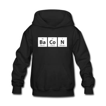Black BaCoN Periodic Table Kids' Hoodie