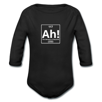 """Ah! The Element of Surprise"" - Baby Long Sleeve One Piece - One Piece - ScienceT-Shirts"
