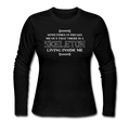 """Skeleton Inside Me"" - Women's Long Sleeve T-Shirt"
