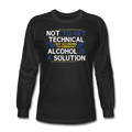 """Alcohol is a Solution"" - Men's Long Sleeve T-Shirt"