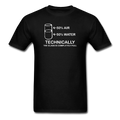 Black Technically The Glass Is Completely Full Men's Science T-Shirt